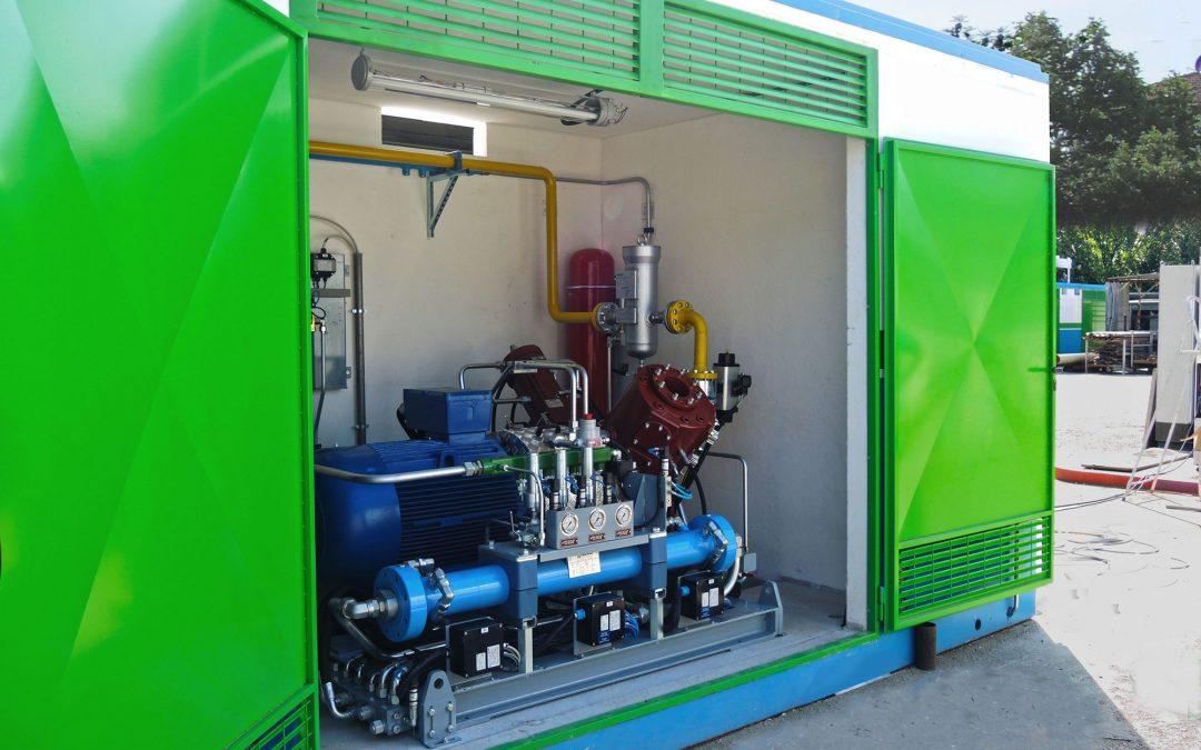 Cabina elettrica di decompressione gas metano – stabilimento Bernardini