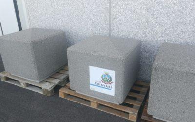 Pronti i nostri dissuasori in cemento per il Comune di Chiavari