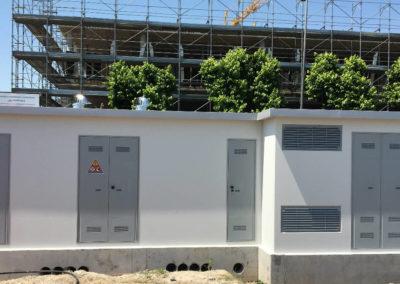 Cabina elettriche con struttura a pannelli a Santarcangelo di Romagna (RN)