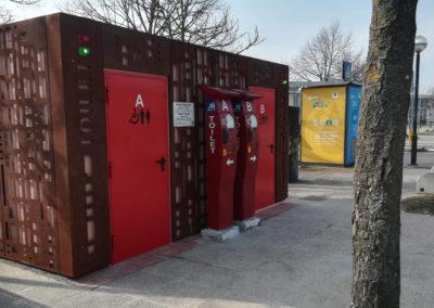 Ravenna, installazione bagni prefabbricati
